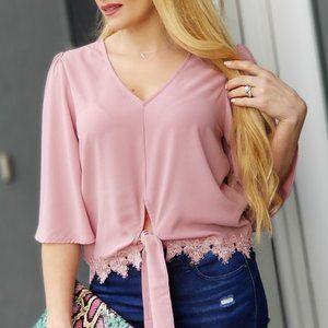 Blushing Babe Chic Blouse - Pink